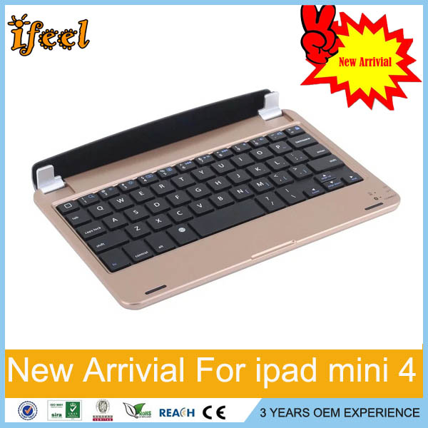 For iPad mini 1 2 3 4 bluetooth keyboard wireless aluminum keyboard 4 color choise