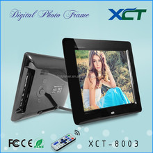 Wholesale bulk wall mounted gif lcd led hd 8 inch digital frame digital photo frame digital picture frame rohs XCT-8003