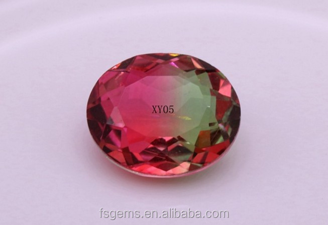 2018 Hot Sale Multicolor Watermelon Tourmaline Glass Product