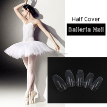 500 pcs full and half cover short Coffin long Ballerla nail tip nail salon
