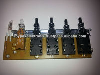 KEYBOARD PUSH SWITHCES WITH PCB (SWITCH FOR CHIMNEY HOODS&OVENS)