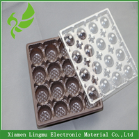 China Manufacture High Quality Square Plastic Trays And Lids For Chololater.