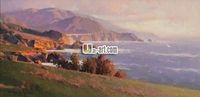 Reproduction canvas pictures mountain scenery oil painting