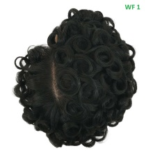 "Synthetic Hair Black Natural style toupee, Customized item Delicately crafted with Superior Quality For men's 6""L toupee"