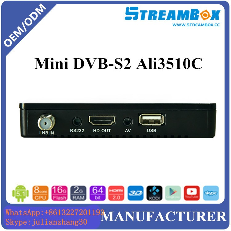 digital satellite receiver full hd Free to Air support power vu and biss key satellite tv receiver ali3510c