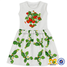 Kids Fashion Strawberry 3 Year Old Baby Girl Dresses