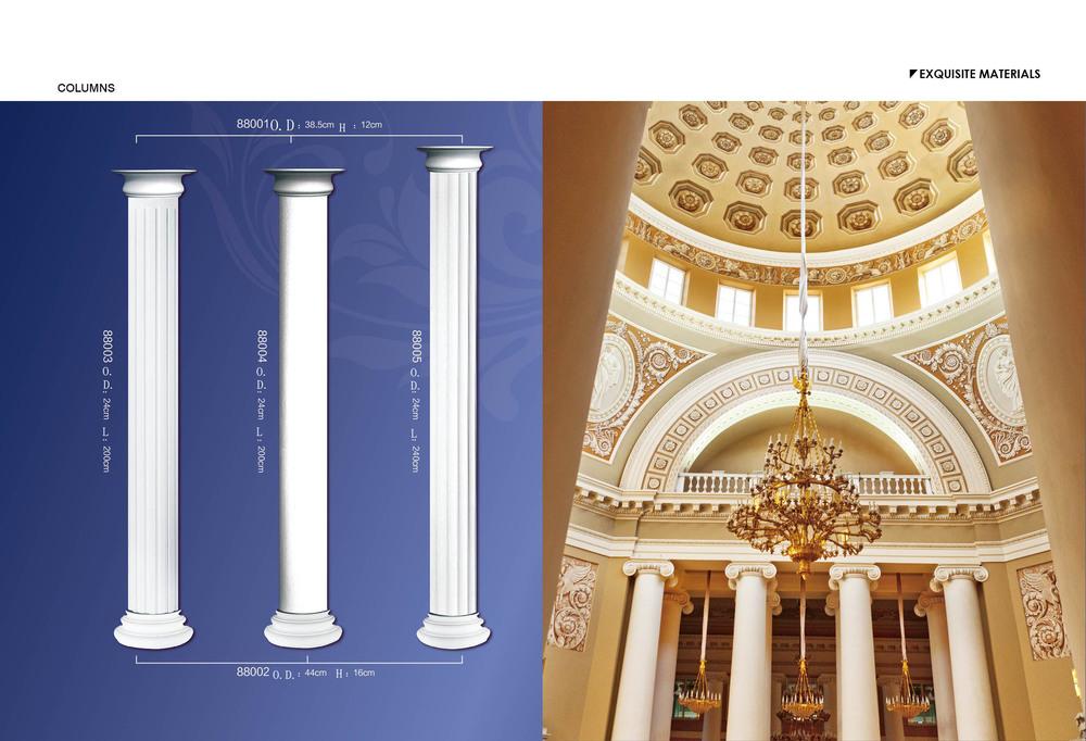 Factory Price Polyurethane Roman Columns For Decoration