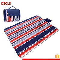 Large size polar fleece outdoor picnic blanket,100% polyester printed camping mat, Waterproof polar fleece picnic mat