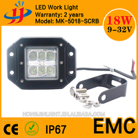 Best wholesale led lamp 18W led work light for cars auto parts 1350 lm 12v led working light for truck