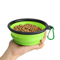 Microwave safe collapsible silicone bowls