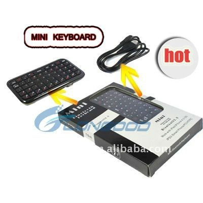 Mini wireless bluetooth Keyboard for iphone/for PS3/laptop