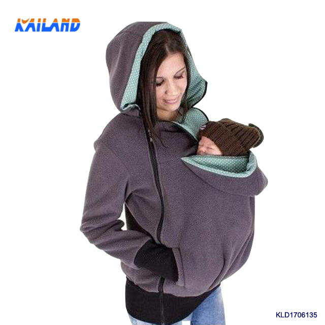Wholesale Winter Maternity Clothes Baby Carrier Two Function Kangaroo Hoodie
