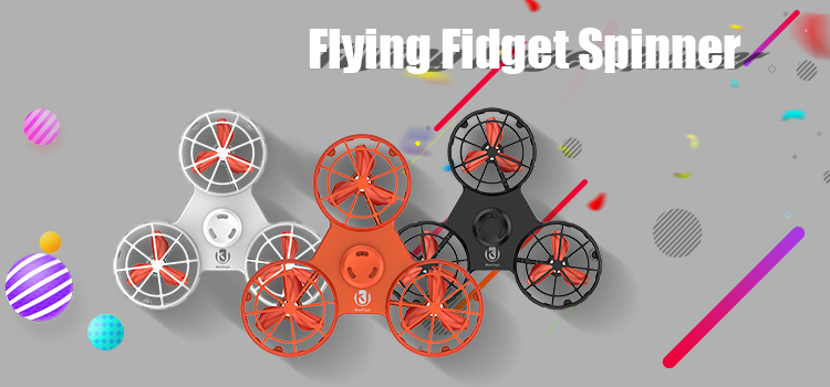 3D Cube Fashionable Design Adult Toy F1 Flying Fidget Spinner Follow Fly Mini Drone Factory Wholesale