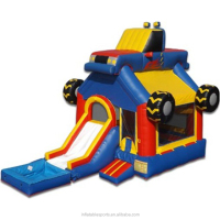 high quality commercial grade Monster Truck inflatable bouncer/ bounce house/ jumping castle slide combo