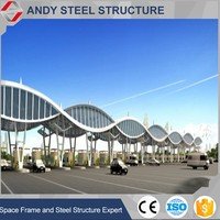 Prefabricated Toll station steel structure train station roof truss