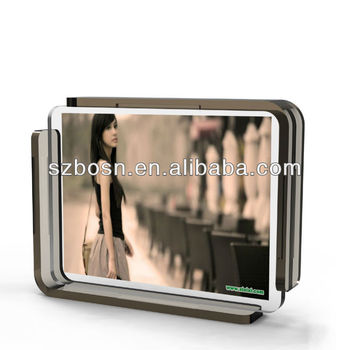 Crystal Acrylic Photo Frame with Grey Stand
