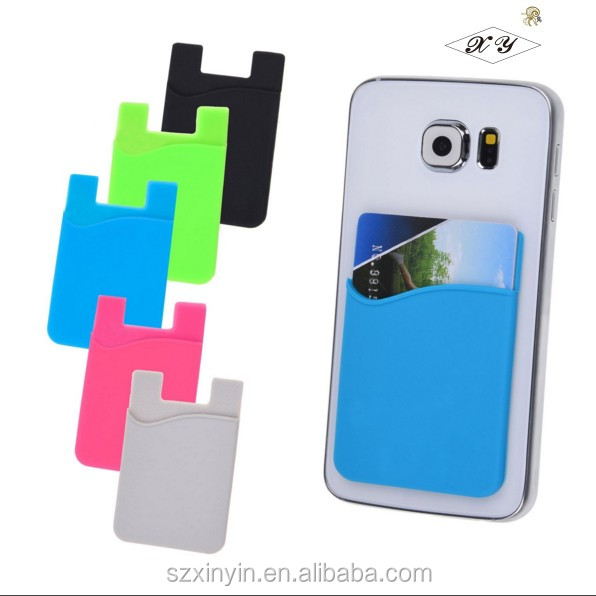 3M sticker smart wallet mobile card holder phone case card holder