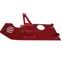 Red Engine Alloy Dash Plate Guard 70 110cc 125cc 140cc 150cc PIT PRO TRAIL DIRT BIKE
