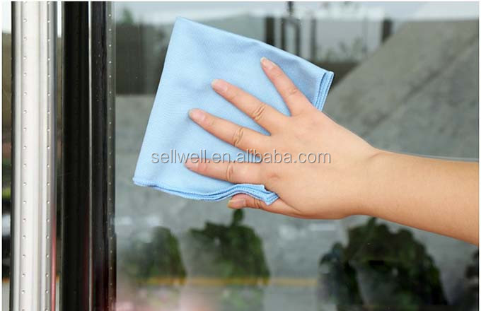 Microfiber glass cloth kitchen cleaning cloth, logo printed microfiber cleaning cloth