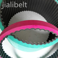 Industrial rubber coated timing belts