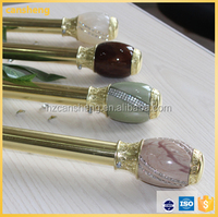 Factory direct high quality resin and diamond curtain rod finials low price curtain pole with accessories