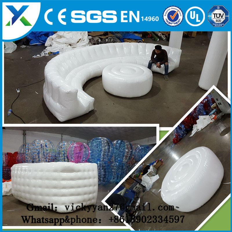 Made in China Guangzhou manufacturer supplies inflatable sofa or inflatable couch for party