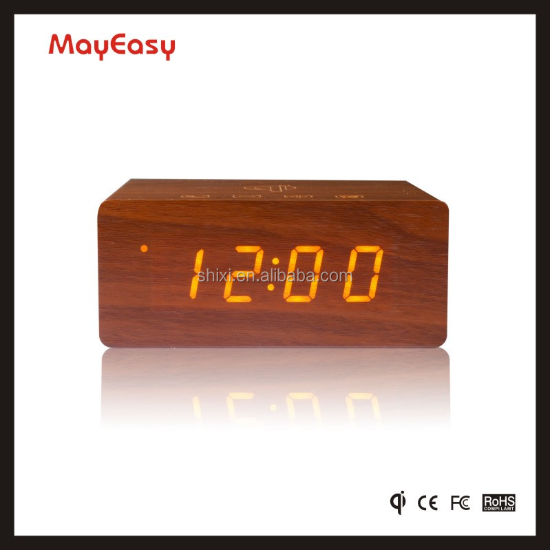 2017 new Charging Station Wireless Speaker with NFC FM radio Alarm clock for iPhone, iPod, iPad, Android