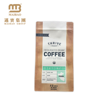 Customized Kraft Paper Foil Lined Stand Up 250g Instant Coffee Packaging Grinds Coffee Packing Pouch With Valve