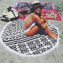 Round Beach Towel 150cm Pizza Hamburger Printed Thin Beach Round Towels Scarf Serviette De Plage Bain Para Playa Toallas