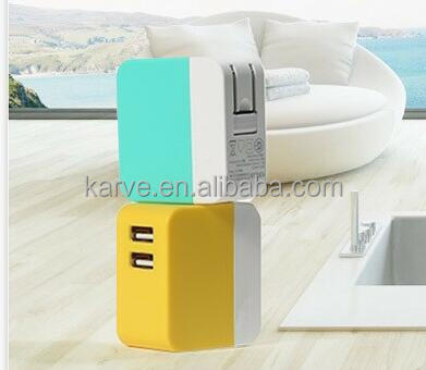 China manufacturer mobile phone accessories Hot sales universal cell phone tralve portavle 2 port usb wall charger