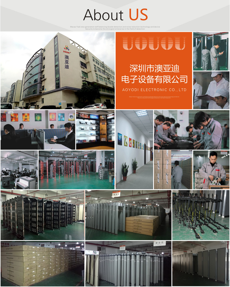 IP65 walk through metal detector factory