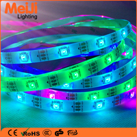 High power 5050 flexible led strip outdoor waterproof aluminum profile led strip ws2812 rechargeable magic led strip