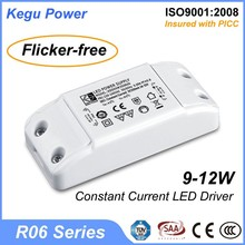 48 KEGU R06 9-12W Indoor Constant Current LED Driver taiwan led driver quality (Flicker-free) with TUV CE SAA