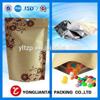 Dried longan bags kraft paper bag for dry fry stand up paper bag