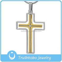 China wholesale jewelry stylish stainless steel religious white enamel Jesus prayer cross pendants costume christians jewelry
