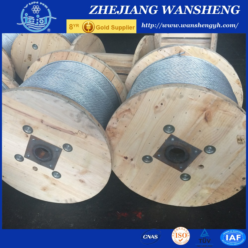 7/3.05 mm Messenger Wire / Ground Wire/ Static Wire ASTM A475 BS183