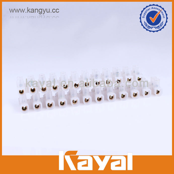 12 way copper plastic strip connector barrier terminal block,wire connector electric motor terminal block,screw terminal block