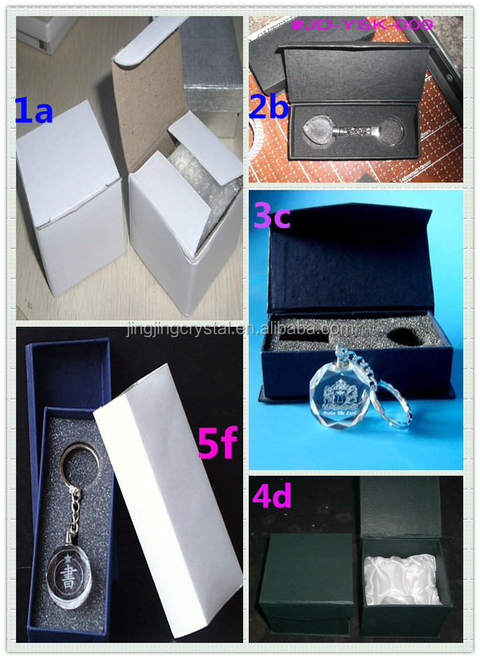 new fashion 3d laser engraving crystal keychain for Business Gift