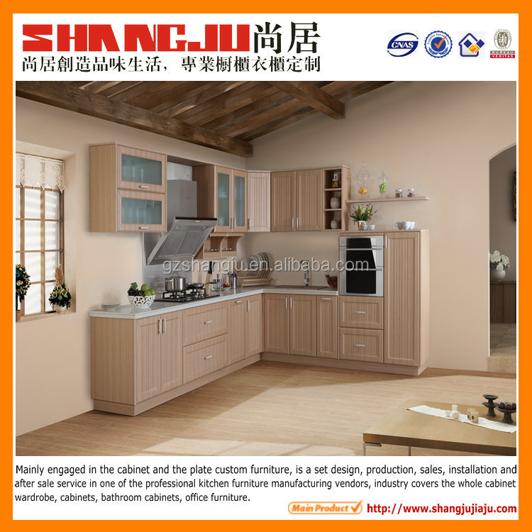 European Style Classic PVC Thermal Foil Kitchen cabinet with frame door design