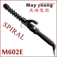 M602E new styles spiral hair curler price of curling iron spiral hair curlers