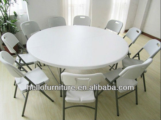 5ft Round Folding Table for Dinning Room Furniture