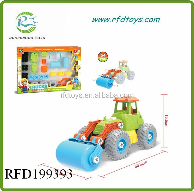 High quality diy educational blocks toy truck car engine assembly