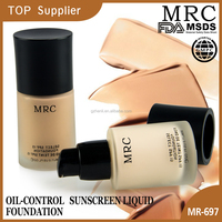 Oil control sunscreen mineral liquid face foundation