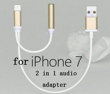 Perfect Quality earphone adapter for iphone 7 audio adapter With Professional Technical Support