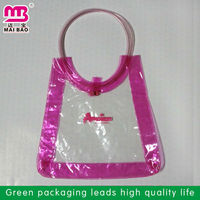 Wedding candy cookie wrapper for gift packaging PVC bag with handle