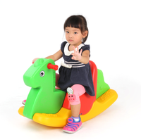 2015 children plastic toys animal rocking horse Rider on toy for kids cheap plastic big toys