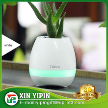 207 Fashion Smart Flower Planter Bluetooth Music Speaker Plants Pots with Rechargeable LED Light