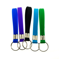 Sedex Factory promotional custom cheap rubber silicone keychain keying