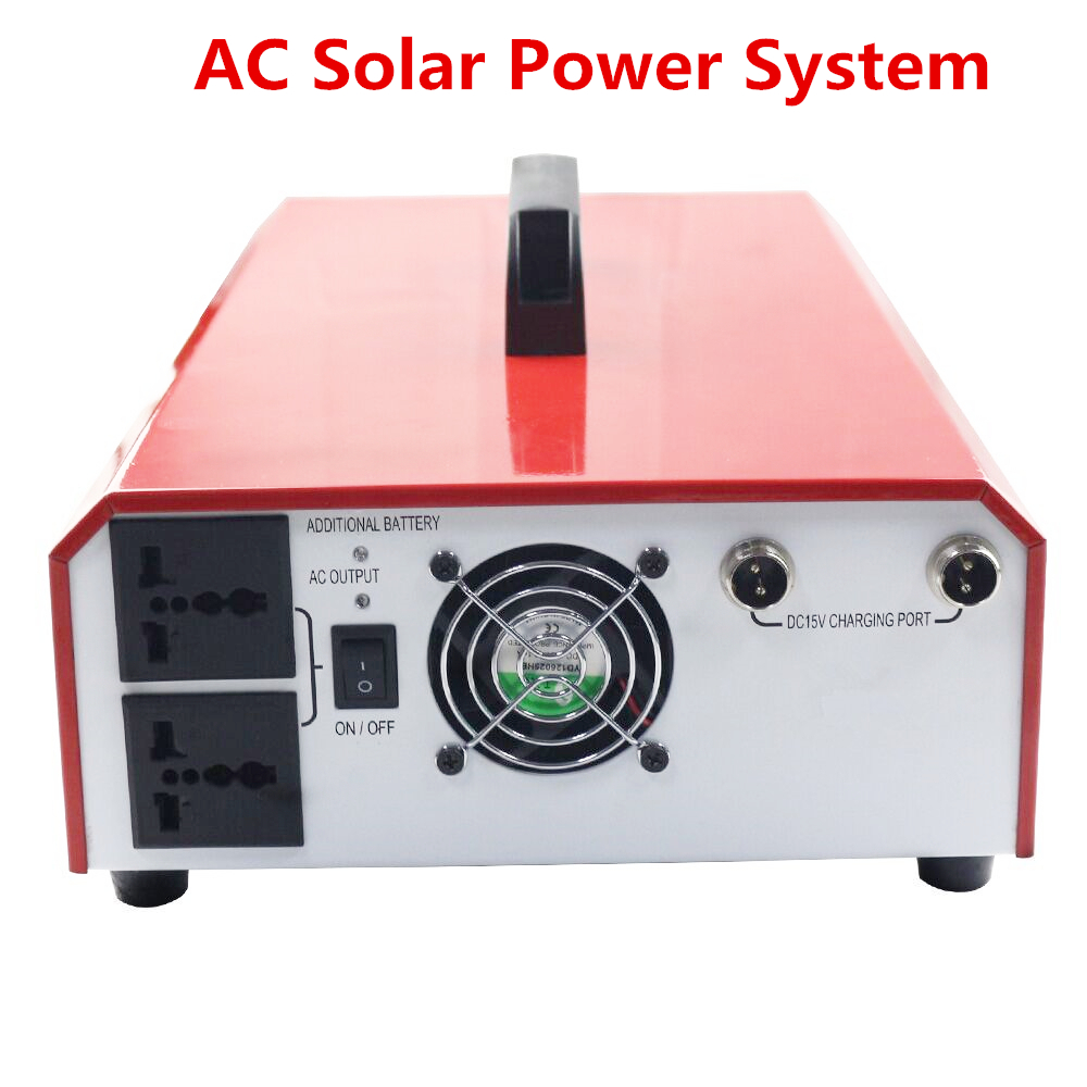 500W Solar Inverter 40W Polycrystalline 220V Portable Rechargeable Battery Electric Generator