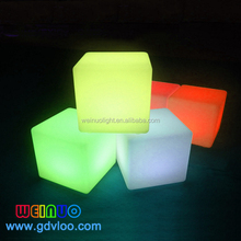 16 colors changing Led Lighting Cube illuminated led cube chair bar stools with rechargeable li-battery